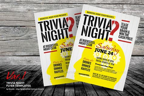 trivia night flyer templates trivia night flyer templates by kinzi21 graphicriver