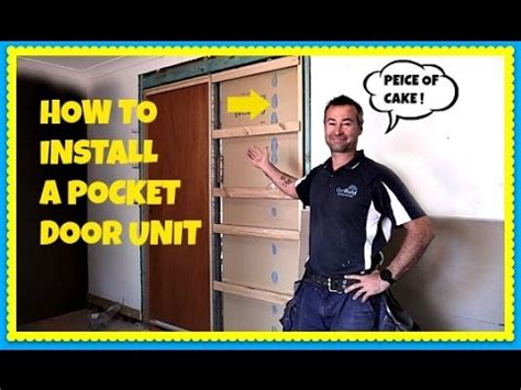 how to install a pocket door in an existing wall cavity slider