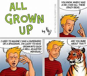 Calvin & Hobbes are all grown up – so I'll have to grow up ...