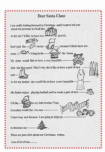 letter to santa claus in word and pdf formats With a letter to santa claus