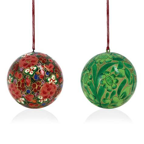 paper ornaments decoration christmas ornaments handmade paper mache hanging balls set of 12 ornaments