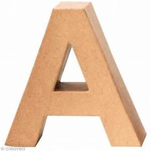 Lettre En Carton À Peindre : lettre en carton 20 cm acheter lettres en carton 20 cm d corer au meilleur prix creavea ~ Nature-et-papiers.com Idées de Décoration