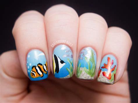 ocean scene nail art chalkboard nails nail art blog