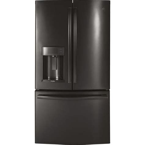 ge profile  cu ft counter depth french door refrigerator  ice maker black stainless