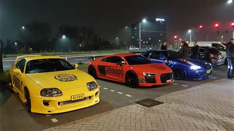 supercar night run   audi    youtube