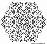 Simple Mandala Coloring Pages Mandalas Getdrawings Adult sketch template