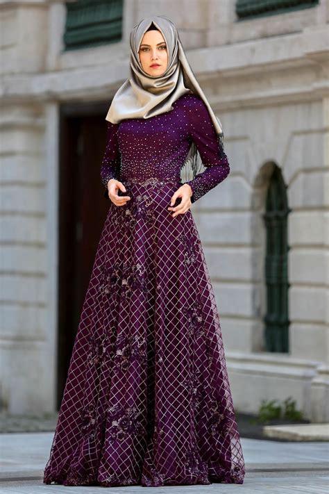 desain menarik  mewah model gaun pesta muslimah elegan