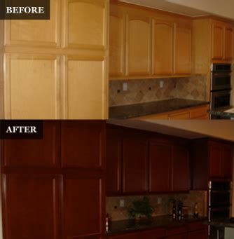 sanding kitchen cabinets before staining pegasus refinishing home 7867