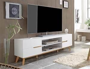 Lowboard Weiß Eiche : lowboard celio 1 wei eiche 169x56x40 cm tv board tv m bel schrank wohnbereiche wohnzimmer tv ~ Eleganceandgraceweddings.com Haus und Dekorationen