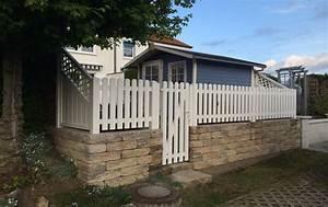 Gartenzaun Weiß Holz : gartenzaun mit pforte ~ Michelbontemps.com Haus und Dekorationen