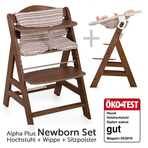 Hauck Hochstuhl Alpha Plus Holz  Newborn Set Inkl