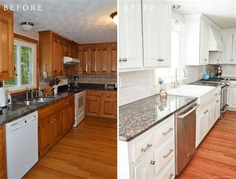 fab farmhouse kitchen makeovers   painted  existing cabinets  happy housie