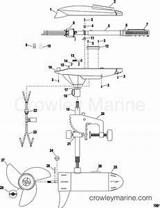 Complete Trolling Motor Model Et44   12 Volt