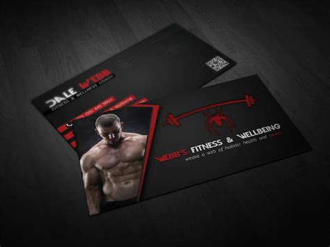 Modern purple business cards with ecg heart logo. Design some Business Cards for a Personal Fitness Trainer ...