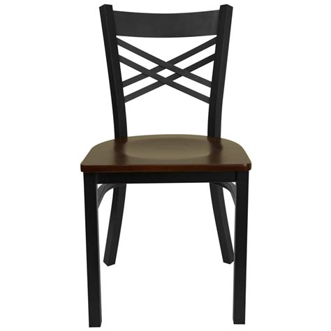 hercules black quot x quot back metal restaurant chair with