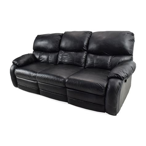black leather reclining sofa 68 off black leather reclining couch sofas