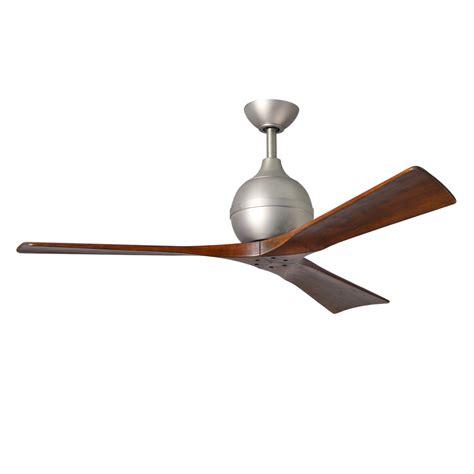 metal blade fans at lowes shop matthews irene 52 in brushed nickel indoor outdoor