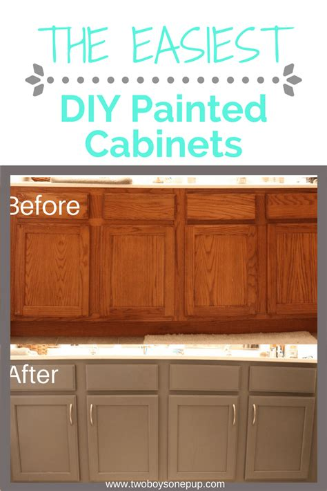 diy painted kitchen cabinets easy diy painted bathroom cabinets two boys one pup 6874