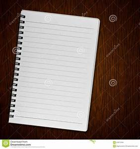 Blank Notebook On Old Wood Background Stock Images - Image ...