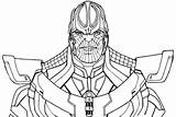 Thanos Fortnite Coloring Avengers Pages Infinity War Drawing Printable Gauntlet Line Game Print Marvel End Thor Easy Adults Hulk Paper sketch template
