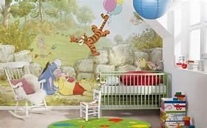 winnie pooh kinderzimmer bei hornbach schweiz With balkon teppich mit tapete disney baby