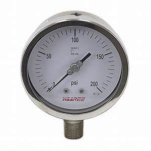 200 Psi 4 U0026quot  Pressure Gauge
