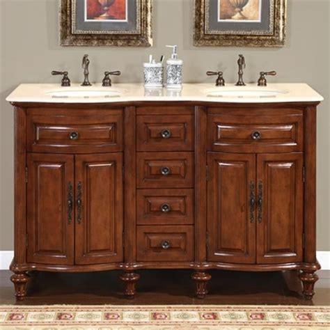 double sink bathroom vanity  cream marfil