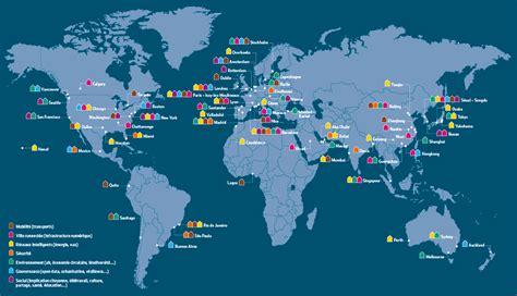 Carte Du Monde Villes Mondiales by Carte 67 Villes Qui Osent L Intelligence