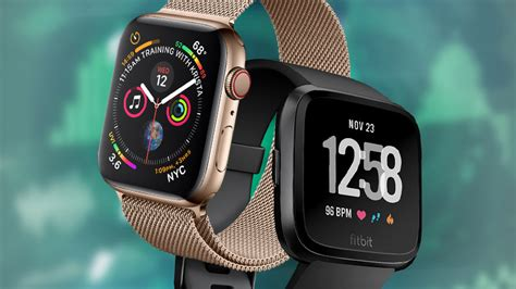 apple series 4 vs fitbit versa which one should you buy pcmag