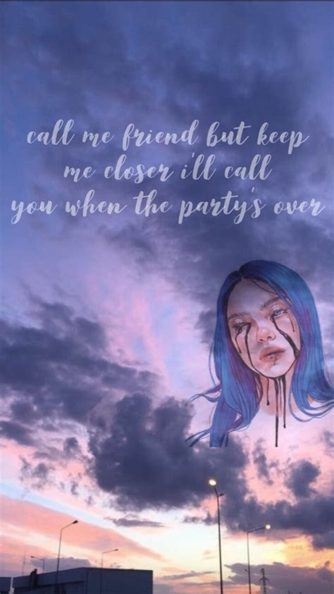 Billie Eilish when The Party's Over Wallpapers - Wallpaper ...