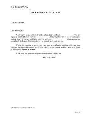 fmla return  work letter alexander street