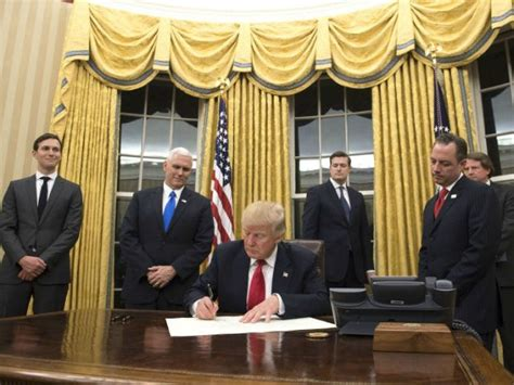 Donald Trump Redecorates Oval Office With New Colored