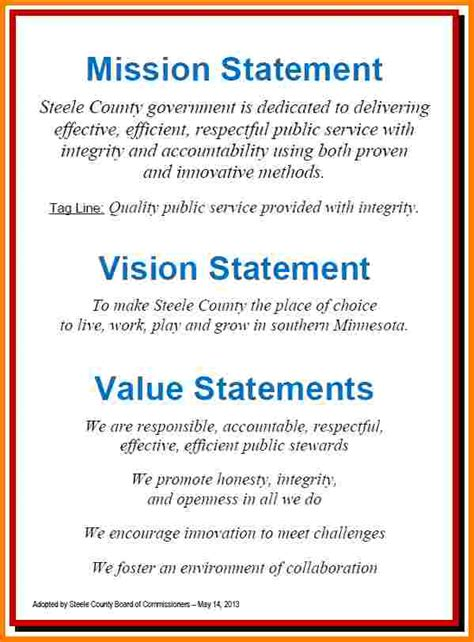 personal vision  mission statement examples case