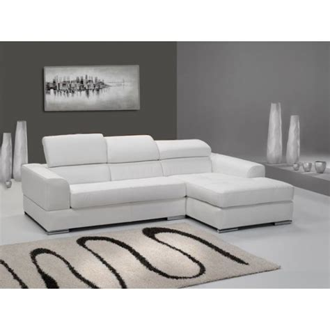 canape 4 places design canap 233 d angle 4 places n 233 to madrid eco cuir blanc avec