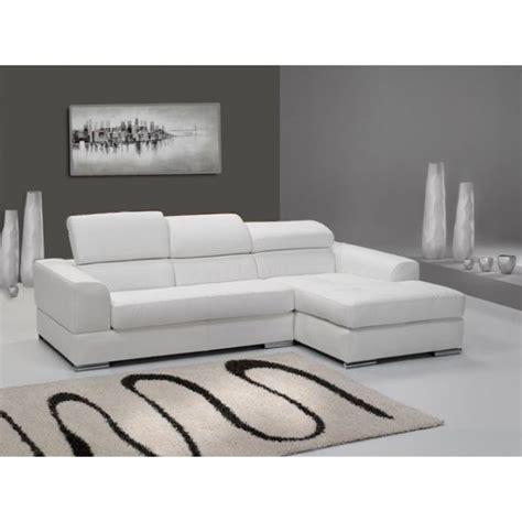canapé convertibles canapé d 39 angle 4 places néto madrid eco cuir blanc avec