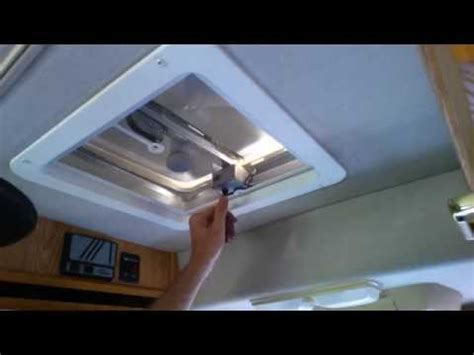 rv vent fan upgrade install a new replacement rv roof fan vent part 4 youtube