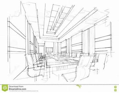 Perspective Interior Meeting Sketch Sala Schizzi Riunioni