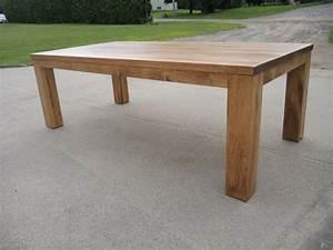 Table Cuisine Moderne : table de cuisine moderne en bois atelier meuble rustique ~ Teatrodelosmanantiales.com Idées de Décoration