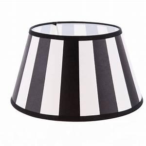 Lampenschirm Schwarz Weiß Gestreift : lampenschirm aus stoff schwarz beige sehr helles beige gestreift rund 30cm aufnahme e27 ~ Indierocktalk.com Haus und Dekorationen