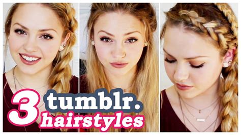 3 Easy Tumblr Hair Tutorials