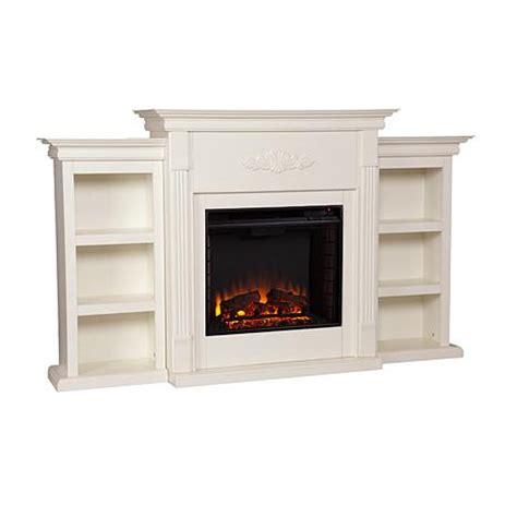 tennyson bookcase electric fireplace tennyson electric fireplace with bookcases ivory