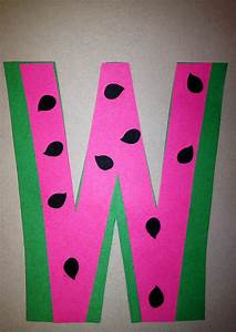preschool letter w craft preschool letter crafts With letters for craft projects