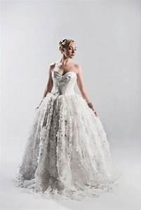 ivory silk organza 3d floral lace wedding dress couture With floral lace wedding dress
