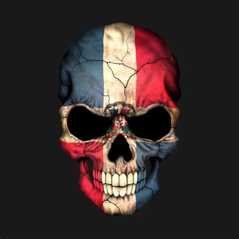 dominican flag skull dominican republic  shirt