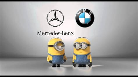 mercedes benz  bmw minions style short youtube