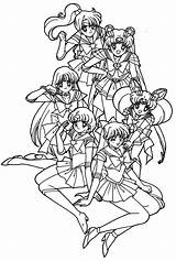Sailor Moon Coloring Pages Printable Friend Adult Sheets Really Books Anime Colouring Sailormoon Friends Sheet Cool Colour Awesome Scouts Getcolorings sketch template