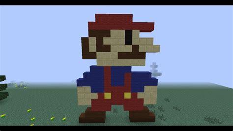 Minecraft Pixel Art Super Mario 8 Bit How To Craft Youtube