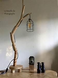 Lampe à Poser Bois : lampe poser en branche 1m10 le meuble du photographe ~ Teatrodelosmanantiales.com Idées de Décoration