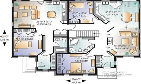 family floor plans multi family house plans triplex house plans family house
