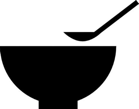 cuisine vegetarienne bol et une cuillère télécharger icons gratuitement